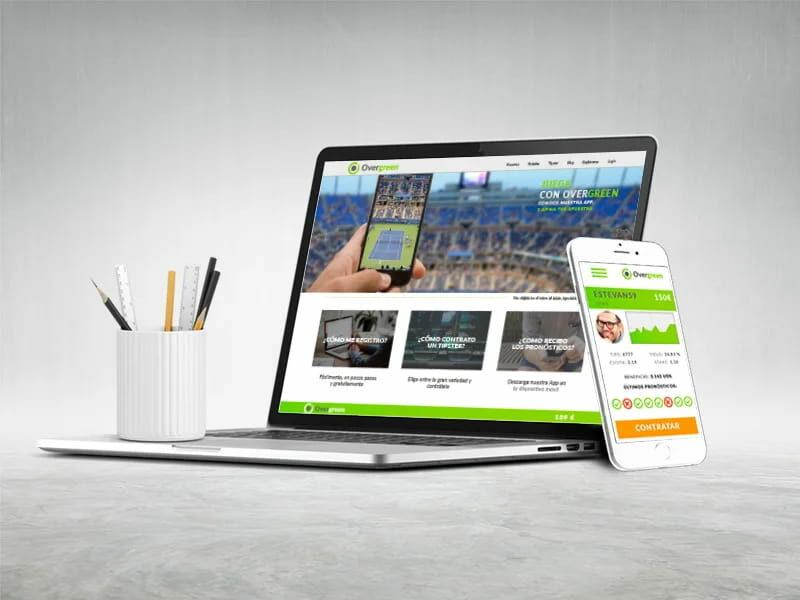 Diseño web Overgreen. digitalDot